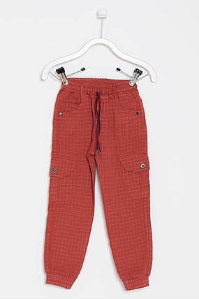 Erkek Çocuk Kareli Pantolon - 1305 (5-8 Yaş)-090145