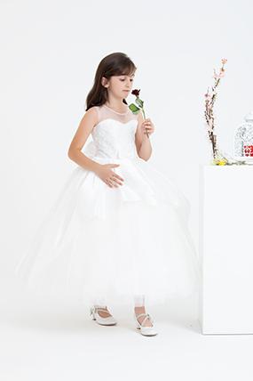 Kız Çocuk Tafta Gelinlik - 270-117079