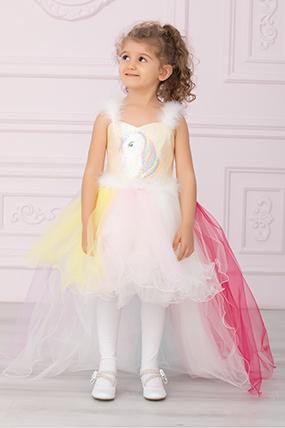 Kız Çocuk Gelinlik Kuyruklu - 586-117087