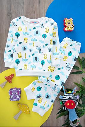 Bebek Baskılı Pijama Takım - 96701 (9-36 Ay)-161167