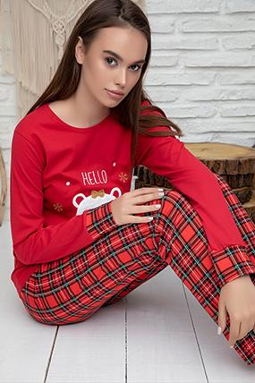 Kadın Nakışlı Pijama Takımı - 1214-182051-1