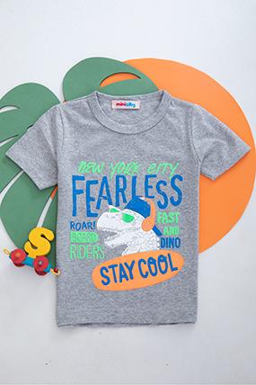 Erkek Çocuk Baskılı T-Shirt - 220916 (3-10 Yaş)-199101