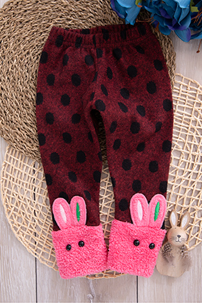 Kız Çocuk Tavşan Pelüşlü Tayt - 6881 (1-5 Yaş)-283290