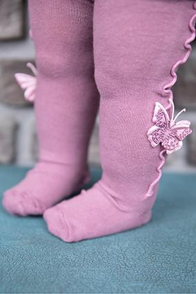 Çocuk Kelebekli Çorap - 3033-301005