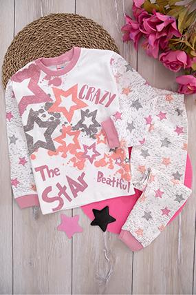 Çocuk Baskılı Pijama Takımı-372006-1