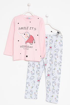 Çocuk Baskılı Pijama Takımı - 705 (7-10 Yaş)-372024