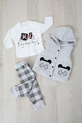 Kız Bebek Üçlü Takım - 0212 (6-18 Ay)-404058
