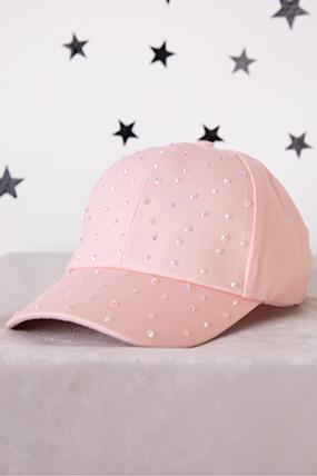 Kız Çocuk Taşlı Şapka - Y9270-1-412555