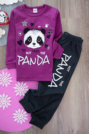 Kız Çocuk Pijama Takımı (1-2-3 Yaş)-440274-1