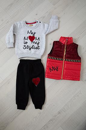 Kız Bebek Takım - 9709 (6-24 Ay)-596719