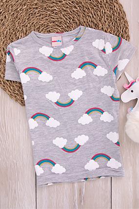 Kız Çocuk Kısa Kol T-Shirt-783009-1