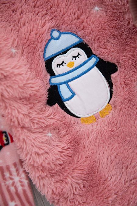 Çocuk Penguen Nakış Polar Takım - 1003 (1-4 Yaş)_