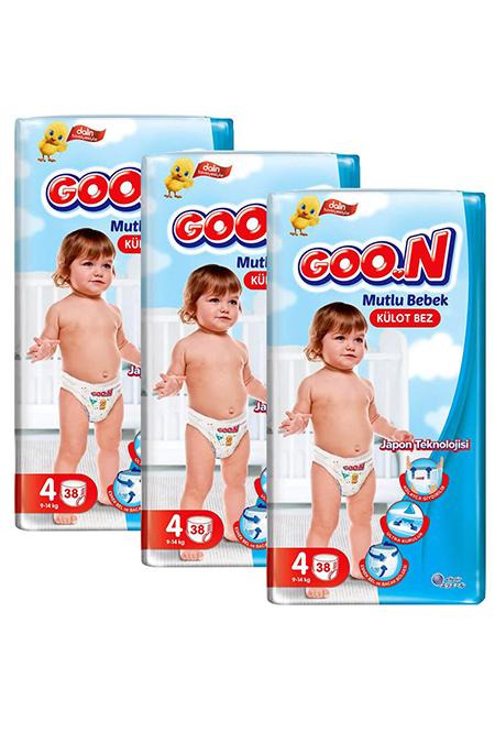 Goon Mutlu Bebek Jumbo Külot Bebek Bezi 114 Adet 4 Beden Fırsat Paketi_