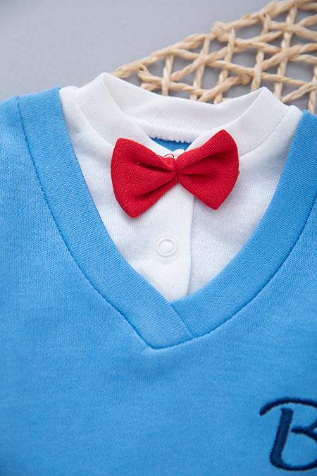 Erkek Bebek Papyonlu Mevsimlik Takım_