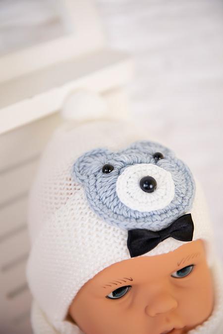 Bebek Triko Şapka Atkı Takım - 8001_