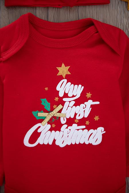 Kız Bebek Noel Tüllü Badili Takım - 4642 (0-9 Ay)_