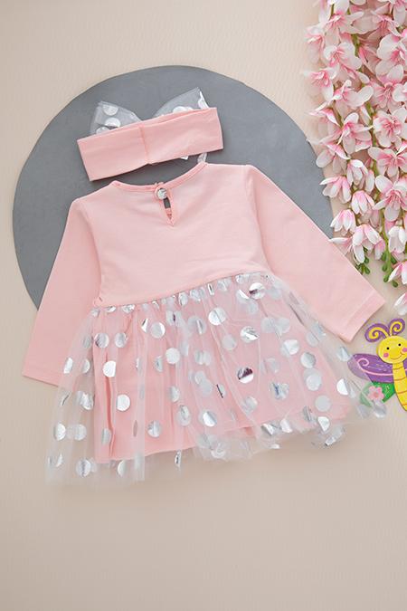 Kız Bebek Butterfly Elbise - 18008 (6-24 Ay)_