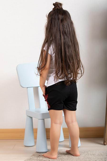 Kız Çocuk Baskılı Şortlu Takım (3-10 Yaş)_